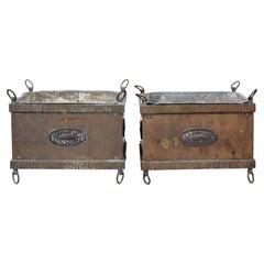 Pair of 19th Century Copper Planters