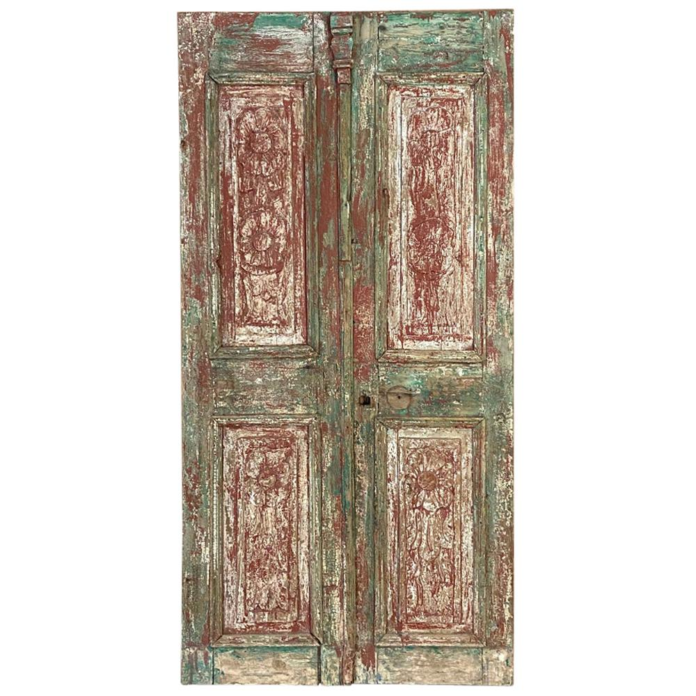 Pair of 19th Century Country French Painted Doors