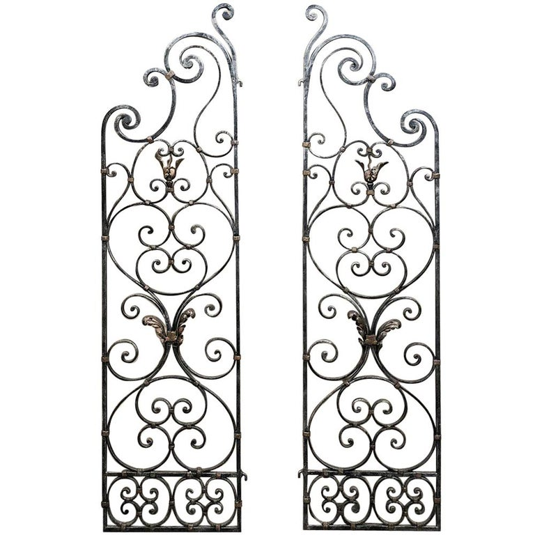 Pair of 19th Century Country French Wrought Iron Garden
