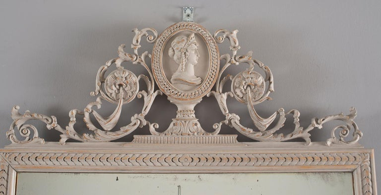 French Pair of 19th Century Directoire Mirrors For Sale