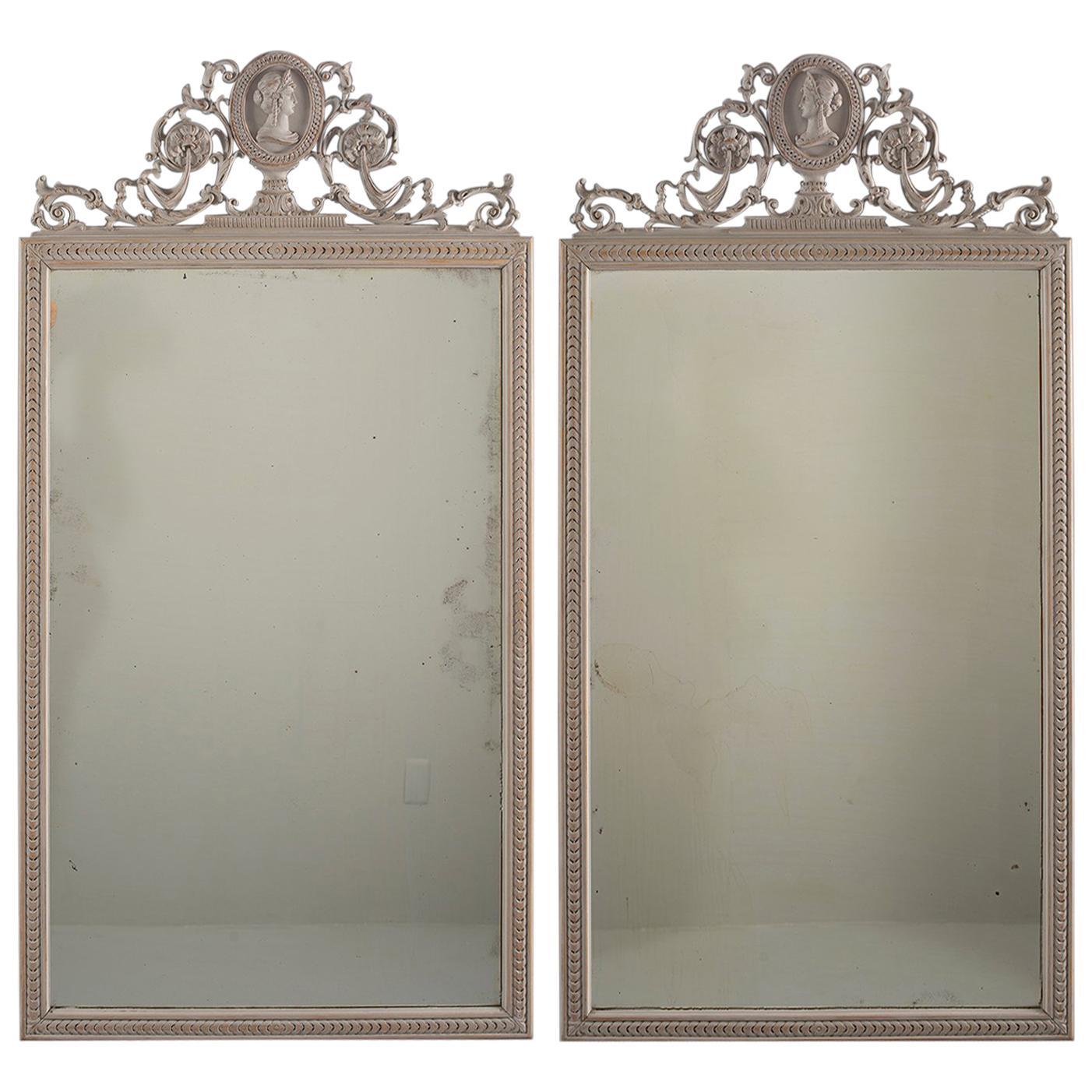 Pair of 19th Century Directoire Mirrors