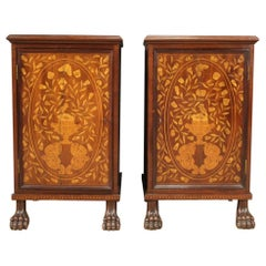 Pair of 19th Century Dutch Inlaid Nightstands
