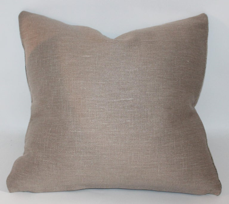 20th Century Pair of 19th Century Early Linen Pillows For Sale