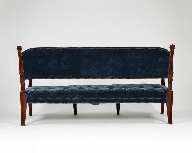 English Pair of 19th Century Egyptian Style Settees For Sale