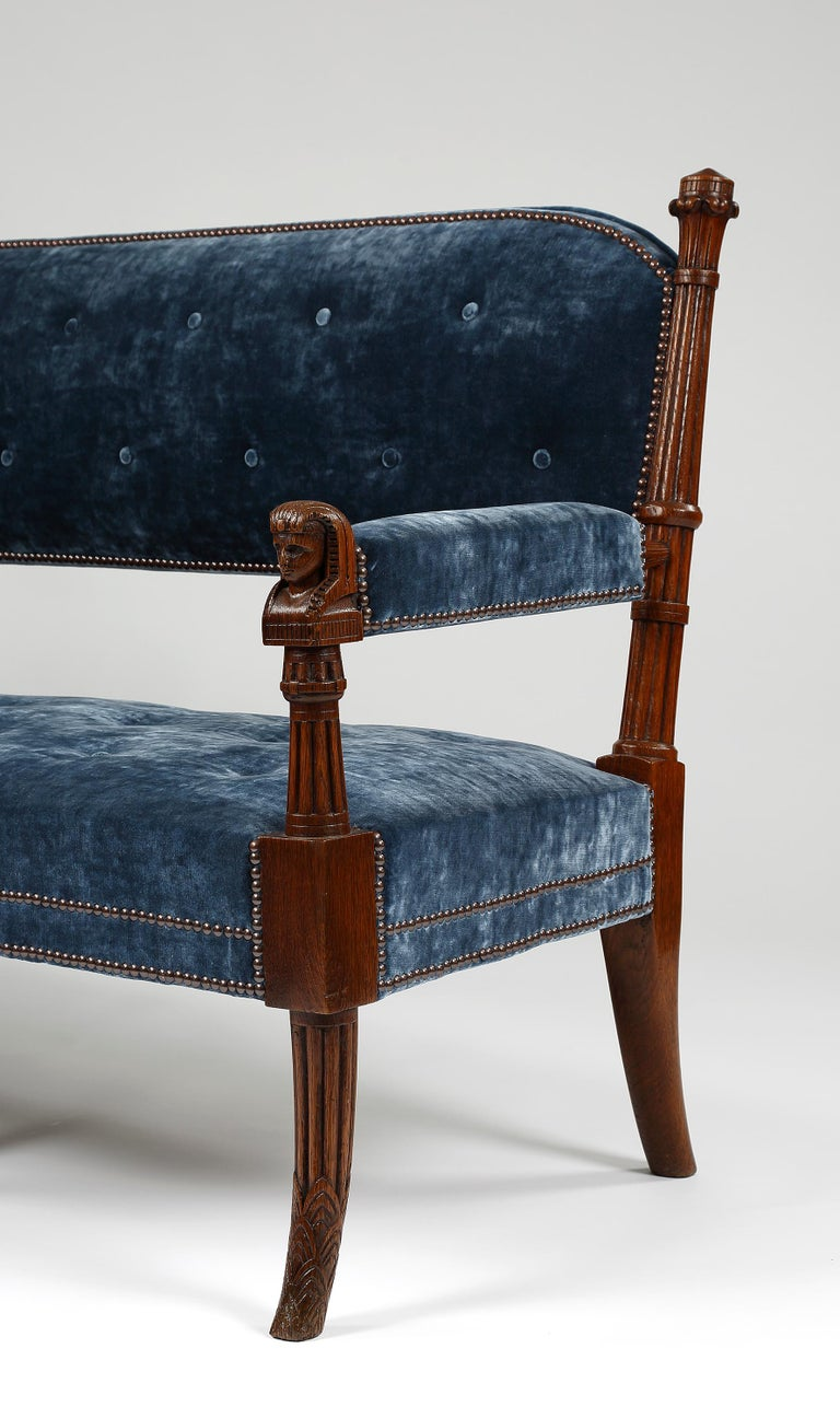 Pair of 19th Century Egyptian Style Settees In Good Condition For Sale In Edenbridge, Kent