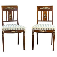 Pair of 19th Century Empire Chairs