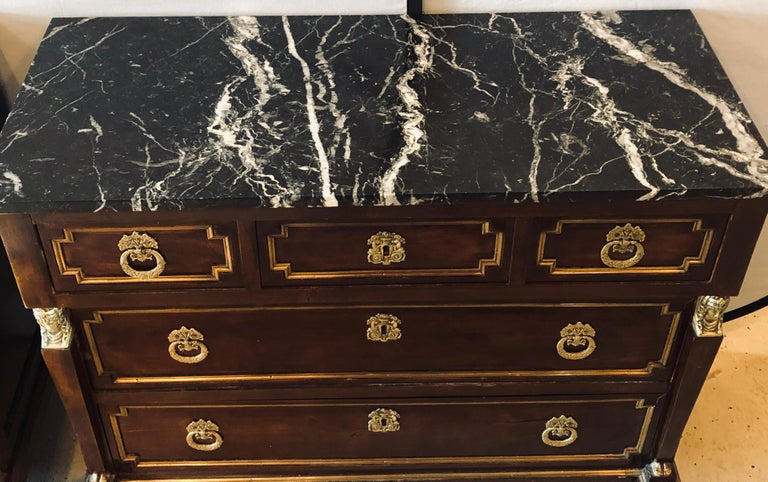 Pair of 19th Century Empire Style Commodes or Nightstands For Sale 2