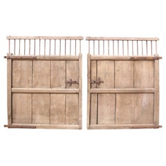 Pair of 19th Century English Elm Wooden Gates