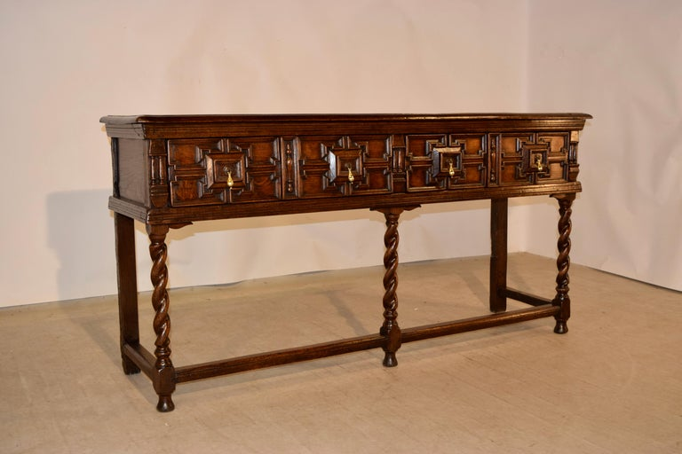 Pair of 19th Century English Geometric Sideboards For Sale 2