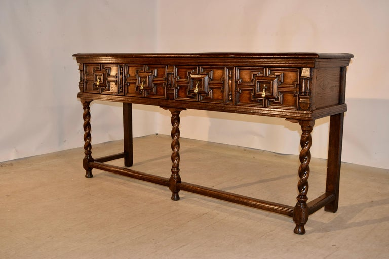 Pair of 19th Century English Geometric Sideboards For Sale 3