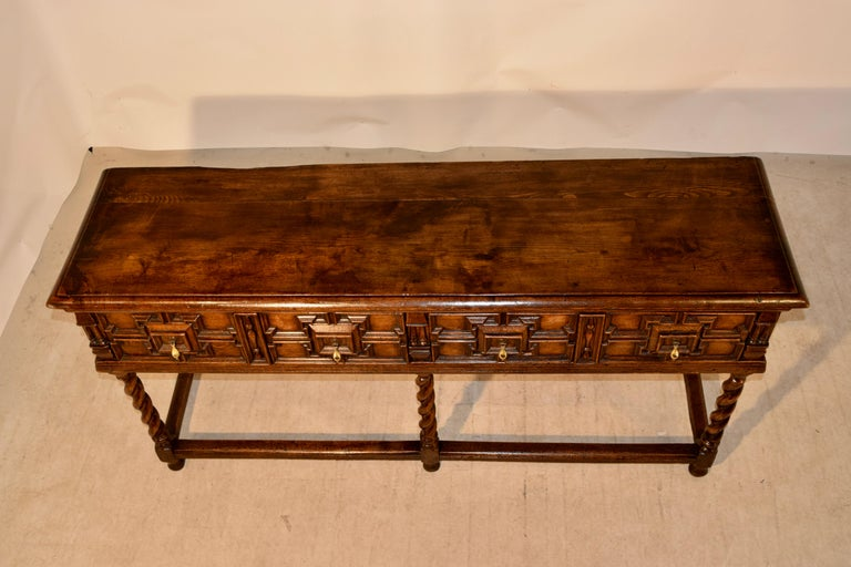 Pair of 19th Century English Geometric Sideboards For Sale 4