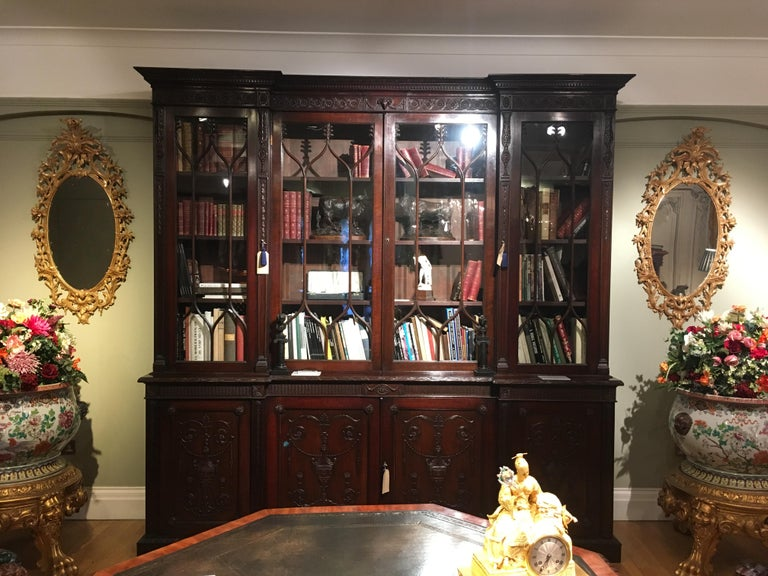 Pair of 19th Century English Giltwood Mirrors in the George III Style In Excellent Condition For Sale In London, GB
