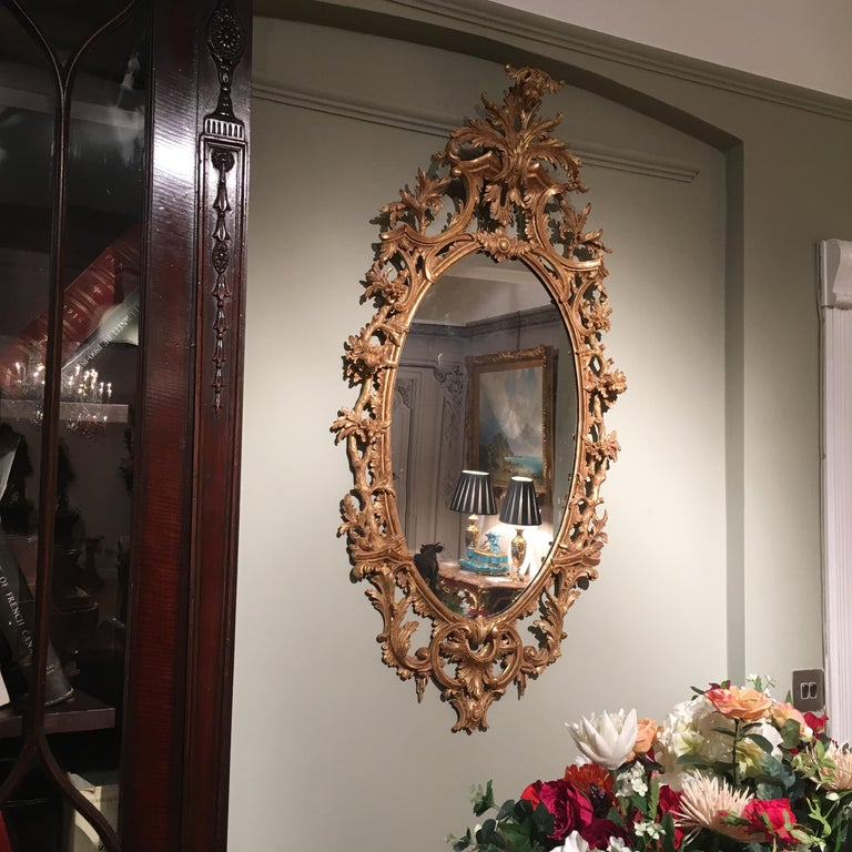 Pair of 19th Century English Giltwood Mirrors in the George III Style For Sale 3