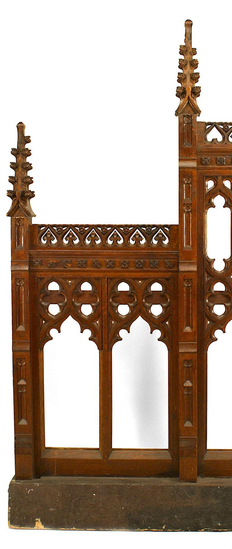 British Pair of 19th Century English Gothic Revival Railing Panels For Sale