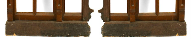 Oak Pair of 19th Century English Gothic Revival Railing Panels For Sale