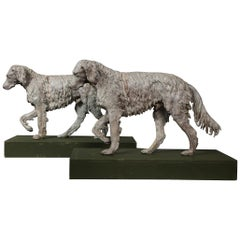 Pair of 19th Century English Lead Dogs
