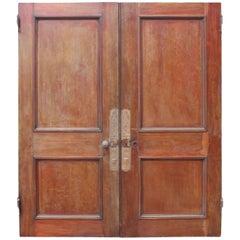 Pair of 19th Century English Mahogany Double Doors