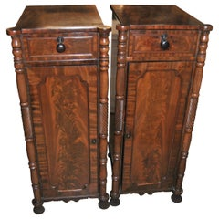 Pair of 19th Century English Mahogany Pedestals / Cabinets / Cupboards