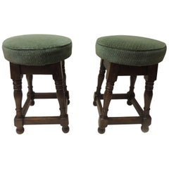 Pair of 19th Century English Pub Stools