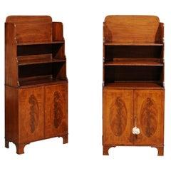 Pair of 19th Century English Regency Style Mahogany Bookcases