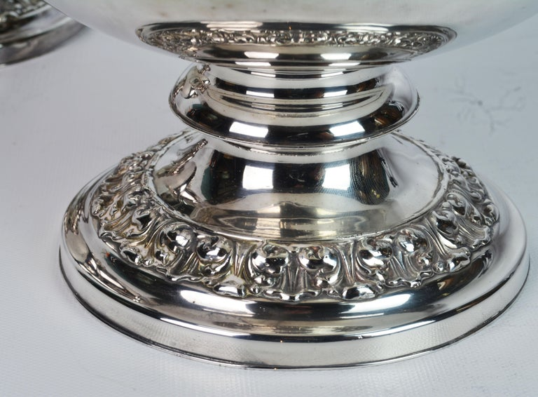 Pair of 19th Century English Sheffield Silver Plate Rococo Style Wine Coolers For Sale 9