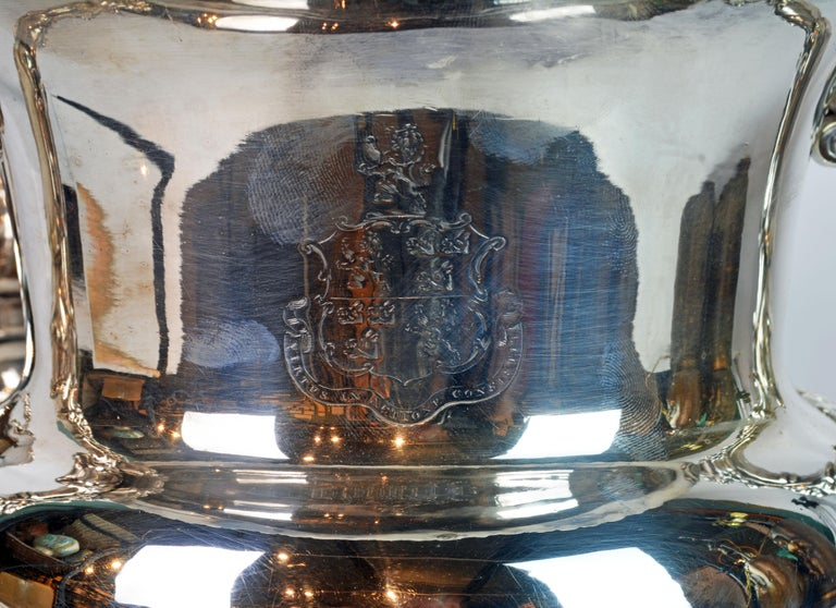 Pair of 19th Century English Sheffield Silver Plate Rococo Style Wine Coolers For Sale 6