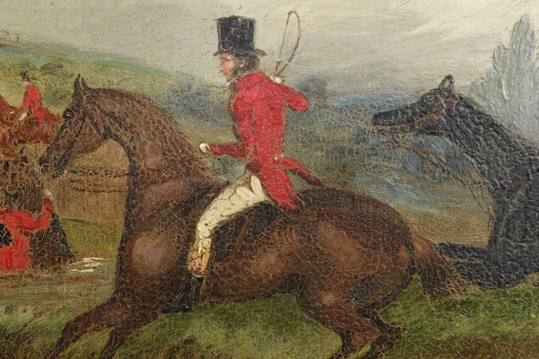 Pair of 19th Century English Sporting Paintings by Richard D. Widdas In Excellent Condition For Sale In Kilmarnock, VA