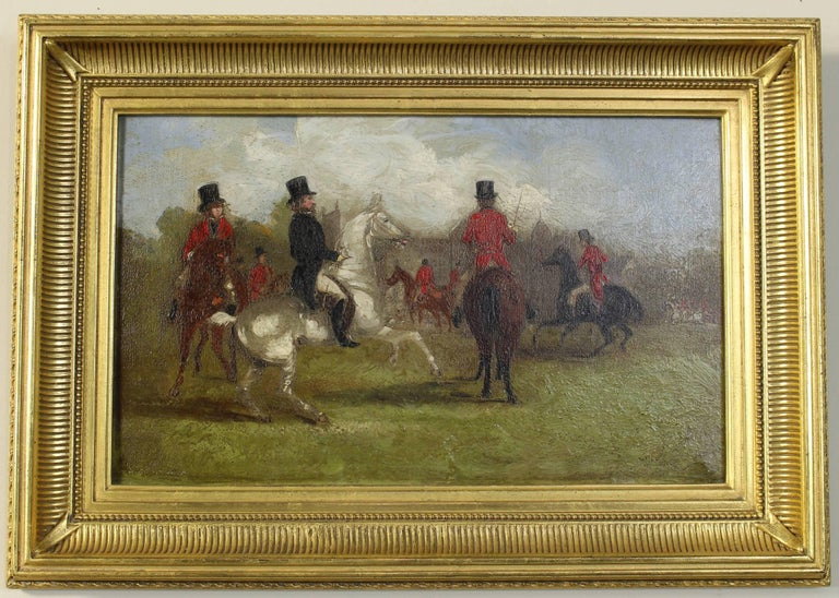 Mid-19th Century Pair of 19th Century English Sporting Paintings by Richard D. Widdas For Sale