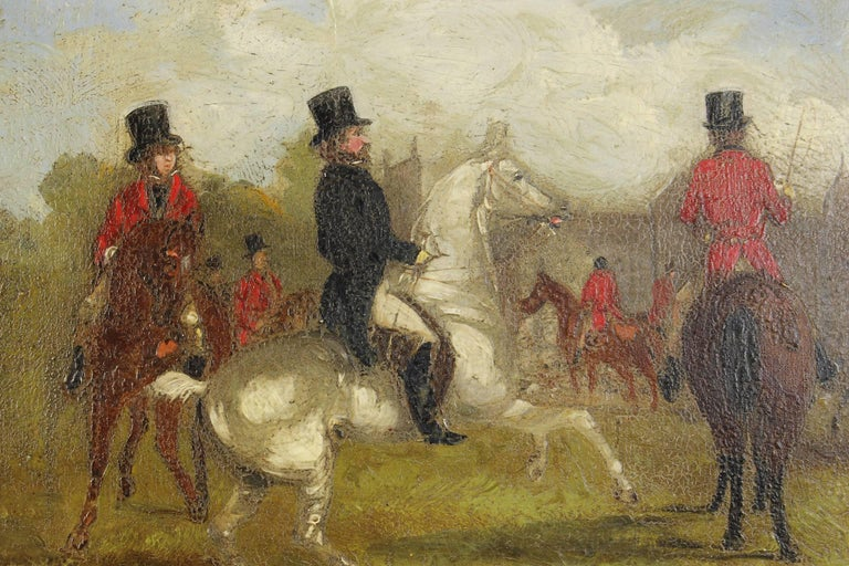 Pair of 19th Century English Sporting Paintings by Richard D. Widdas For Sale 1