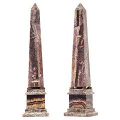 Pair of 19th Century English Turtle-Form Ormolu Mnt. Blue John Obelisks
