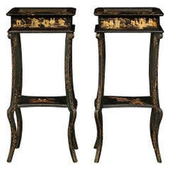 Pair of 19th Century English Vitrine Side Tables