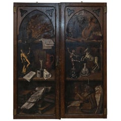 Pair of 19th Century Faux Painted Cabinet Doors