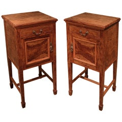 Pair of 19th Century figured Olivewood Bedside Cabinets