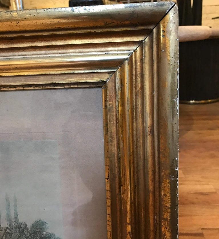 Pair of 19th Century Fishing Prints in Original Classic American Giltwood Frames For Sale 1
