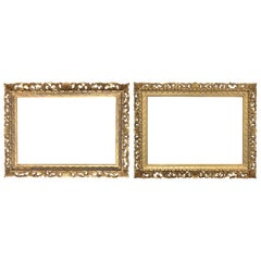 Mirror Frames Pair of Giltwood 19th Century Florentine