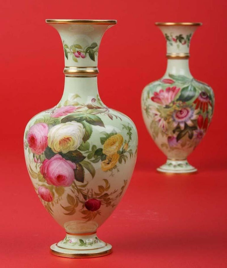Pair of 19th Century Flower Vases Made by Copeland For Sale 5