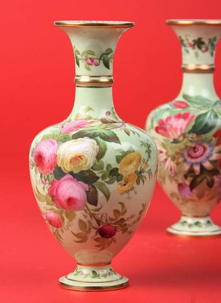 Pair of 19th Century Flower Vases Made by Copeland For Sale 6