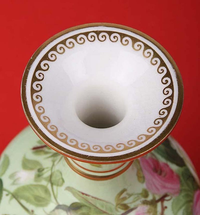 Porcelain Pair of 19th Century Flower Vases Made by Copeland For Sale
