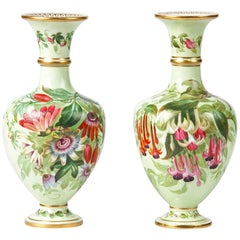 Pair of 19th Century Flower Vases Made by Copeland