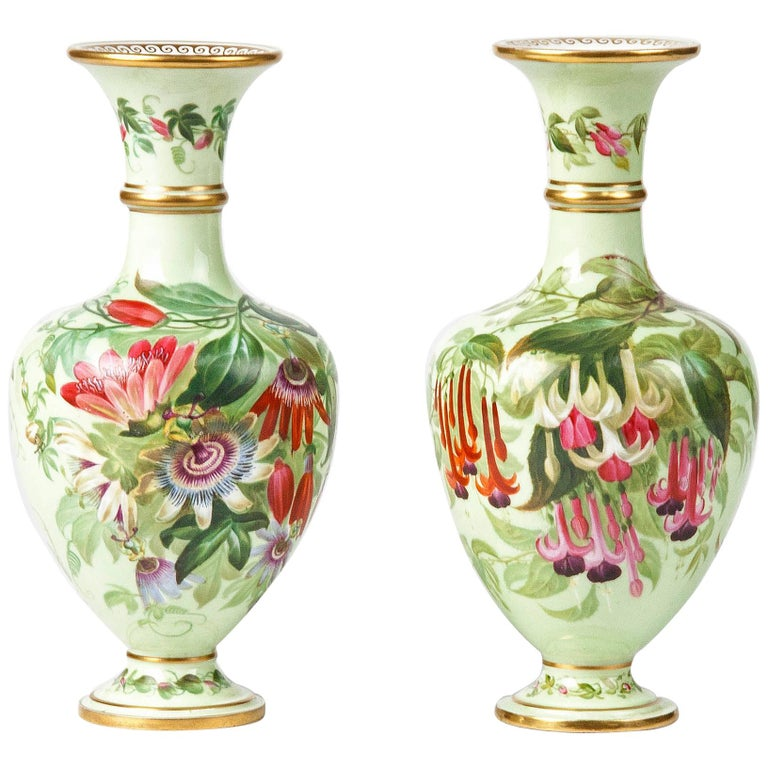 Pair of 19th Century Flower Vases Made by Copeland For Sale