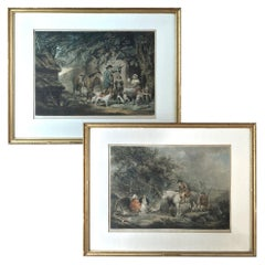 Pair of 19th Century Framed Hand-Colored Engravings