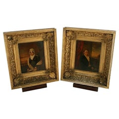 Pair of 19th Century Framed Portraits, 19th Century