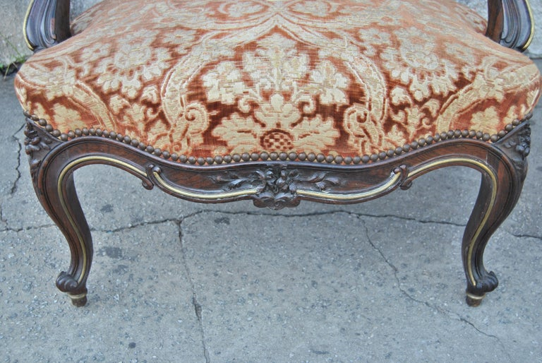 Pair of 19th Century French Armchairs In Good Condition For Sale In Savannah, GA