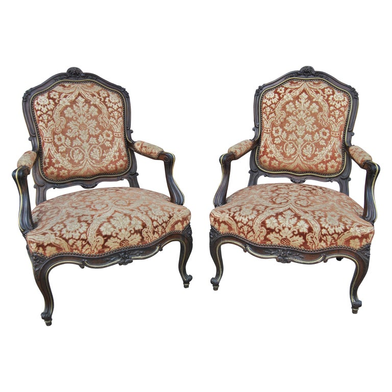 Pair of 19th Century French Armchairs For Sale