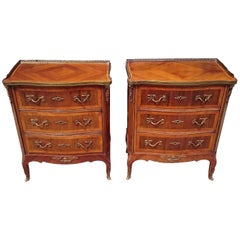 Pair of 19th Century French Bed Side Cabinets