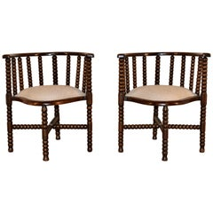 Pair of 19th Century French Bobbin Chairs