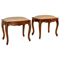Pair of 19th Century French Cabriole Stools