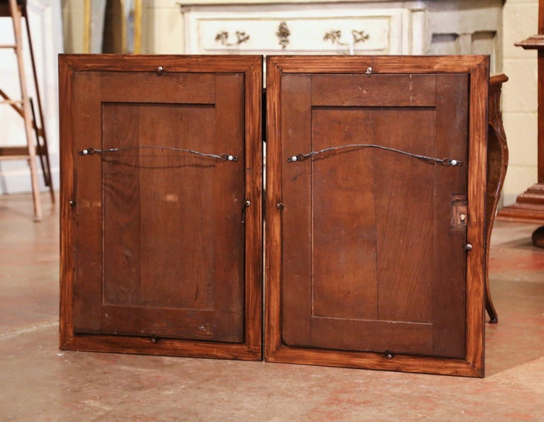 Pair of 19th Century French Carved Oak Wall Door Panels in Gilt Frames For Sale 6