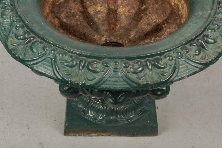 Pair of 19th Century French Cast Iron Urns For Sale 3