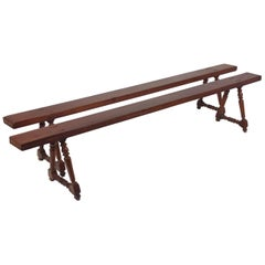 Pair of 19th Century French Cherrywood Benches